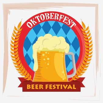 Oktoberfest celebration with beers jars