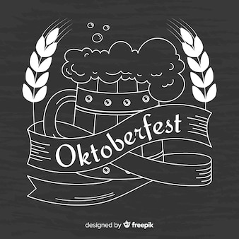 Oktoberfest chalk background