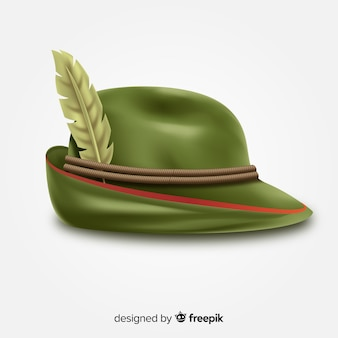 Oktoberfest classic hat background realistic style