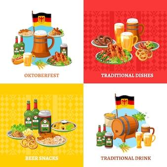 Oktoberfest concept elements square