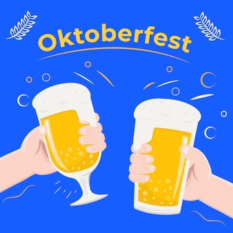 Oktoberfest concept in party