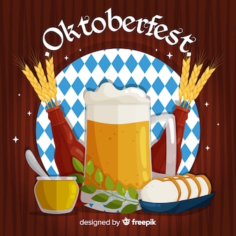 Oktoberfest concept with flat design