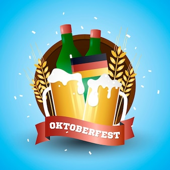Oktoberfest concept with gradient color