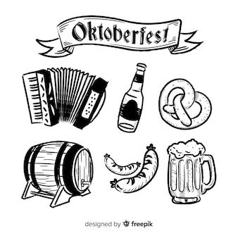 Oktoberfest concept with hand drawn background
