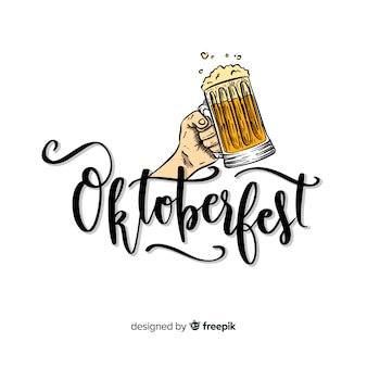 Oktoberfest concept with lettering background