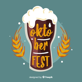 Oktoberfest concept with lettering
