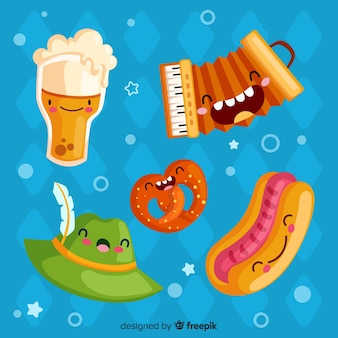 Oktoberfest element collection on flat design