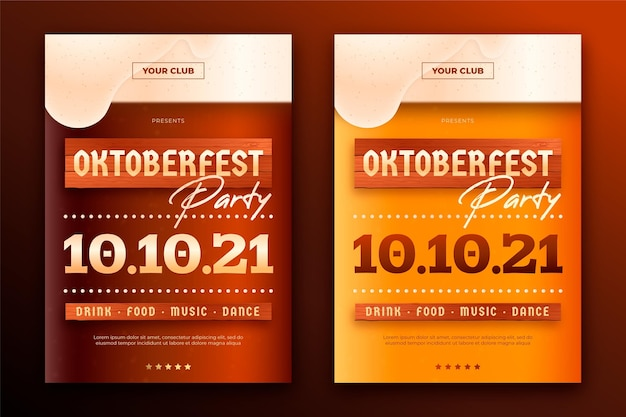 Oktoberfest event posters template