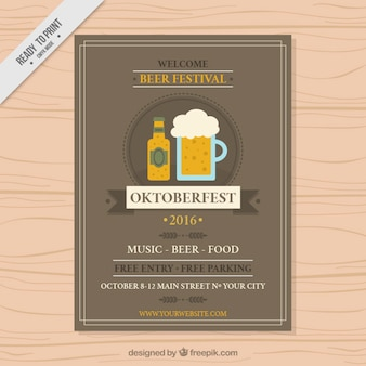 Oktoberfest festival brochure template