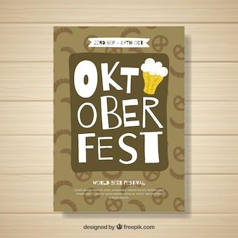 Oktoberfest flyer template with lettering