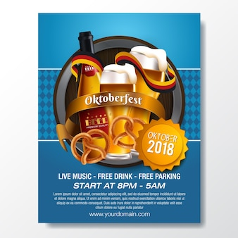 Oktoberfest german beer festival template