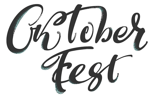 Oktoberfest german lettering text for greeting card wiesn holiday vector illustration