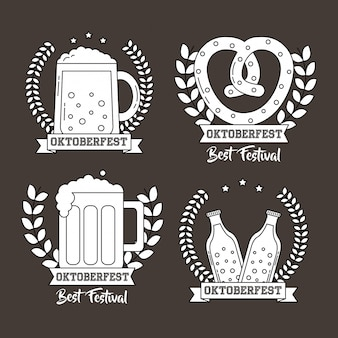 Oktoberfest germany celebration set