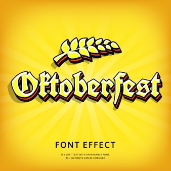 Oktoberfest gothic 3d text effect typographic for print design