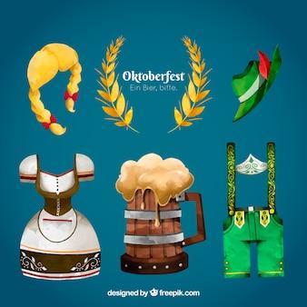 Oktoberfest, hand-painted items