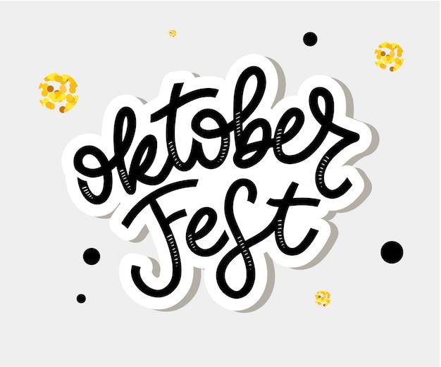 Oktoberfest handwritten lettering