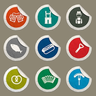 Oktoberfest icons set for web sites and user interface