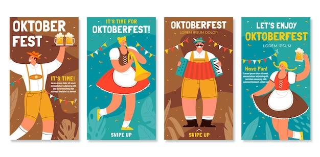 Raccolta di storie instagram dell'oktoberfestfest