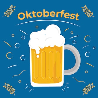 Oktoberfest or international beer with pints of beer