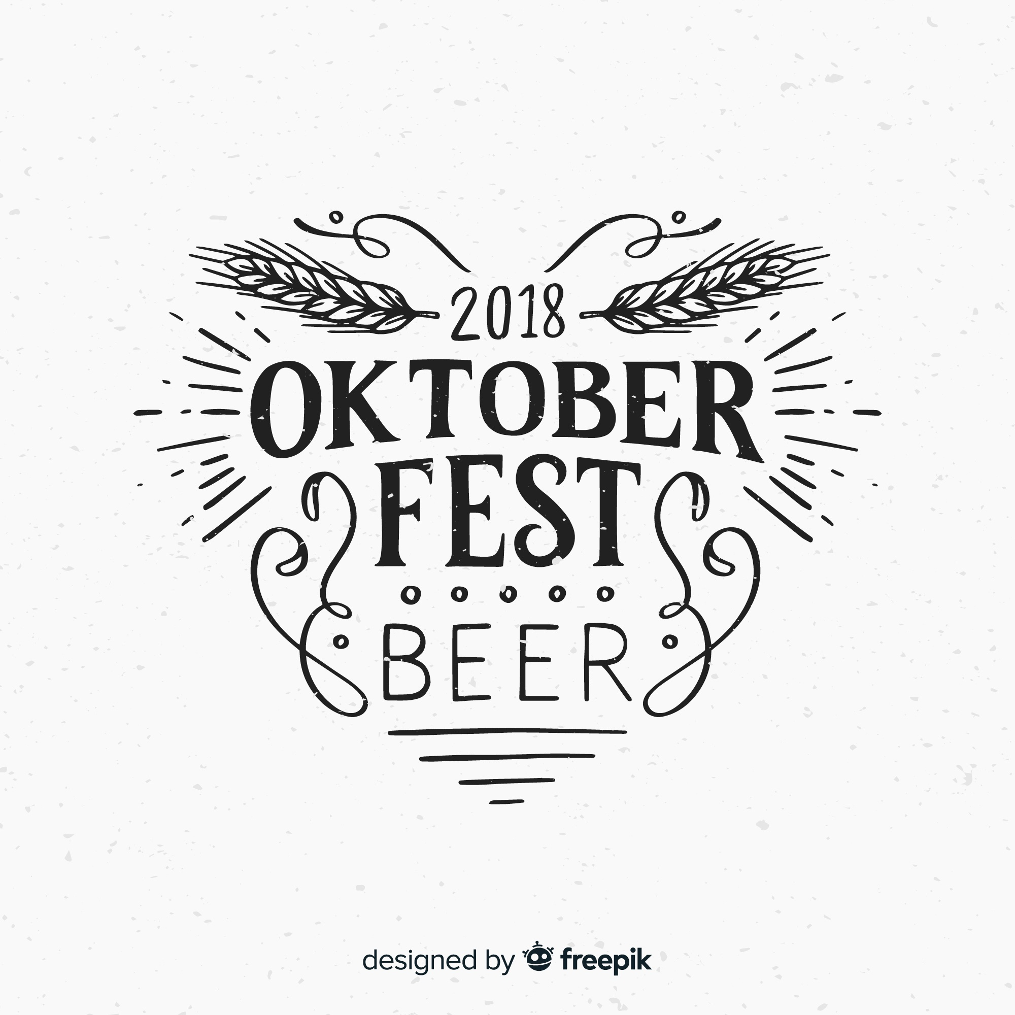 Oktoberfest lettering background