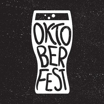 Oktoberfest lettering badge