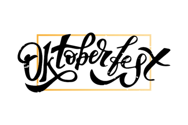 Oktoberfest lettering calligraphy brush text holiday