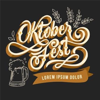 Oktoberfest lettering concept