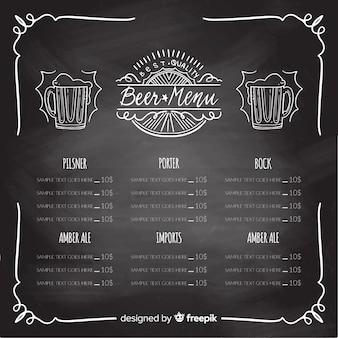 Oktoberfest menu template with blackboard style