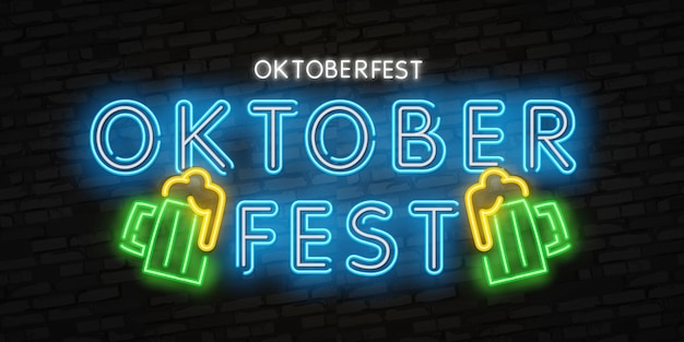 Oktoberfest neon effect style