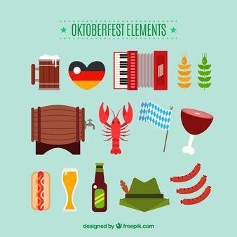 Oktoberfest, nice flat elements Free Vector
