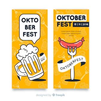 Oktoberfest party banner template set