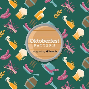 Oktoberfest pattern with traditional elements