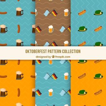 독일 제품 및 플래그가 포함 된 옥토버 페스트 패턴