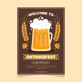 Poster dell'oktoberfest in design piatto