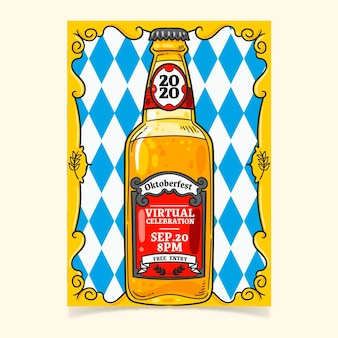 Oktoberfest poster template hand drawn