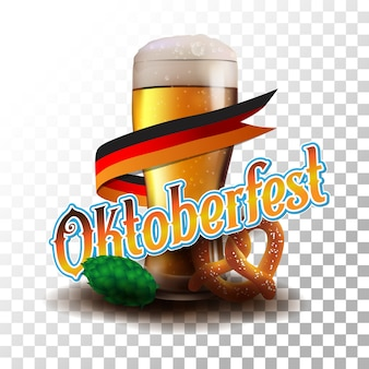Oktoberfest poster vector illustration transparent