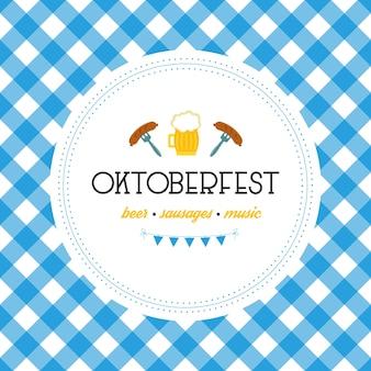 Oktoberfest poster vector illustration