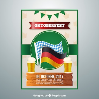 플래그 옥토버 페스트 포스터