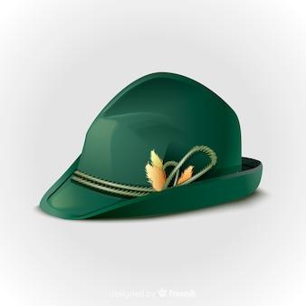 Октоберфест реалистичная зеленая шляпа
