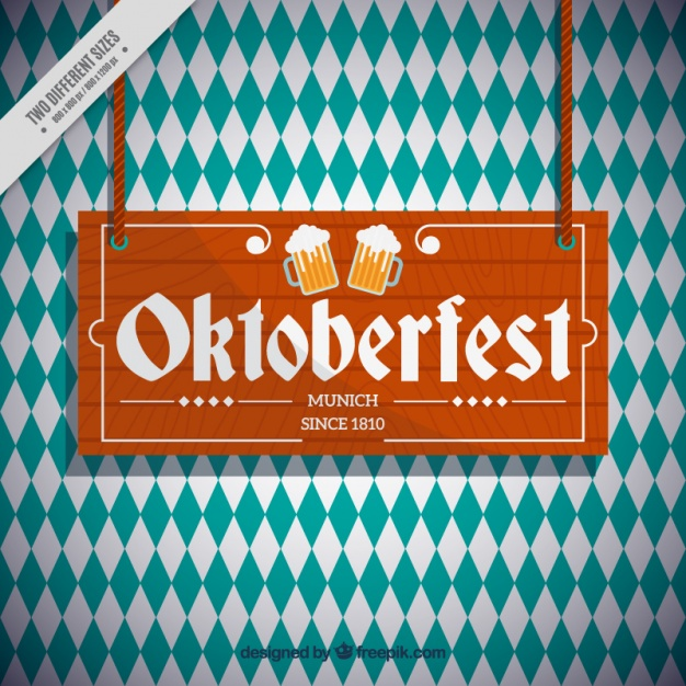 Oktoberfest rhombus background