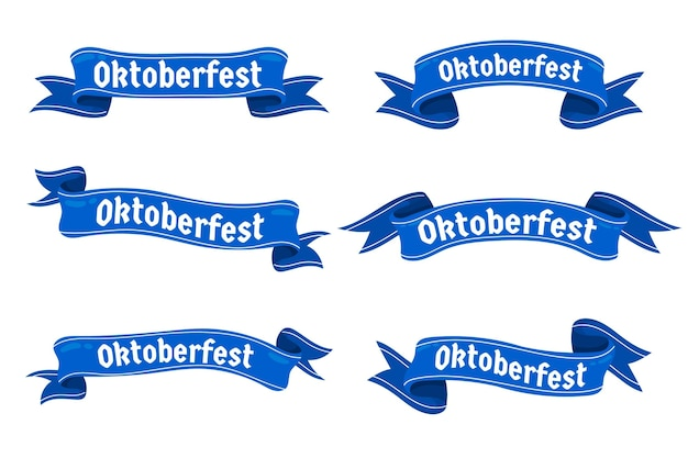 Collezione di nastri dell'oktoberfest