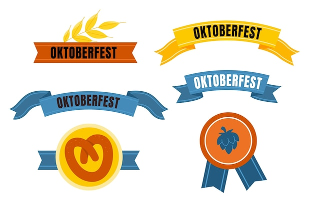 Oktoberfest ribbons collection