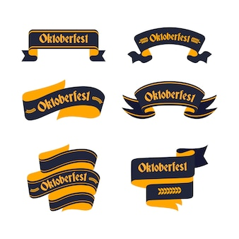Oktoberfest ribbons in flat design