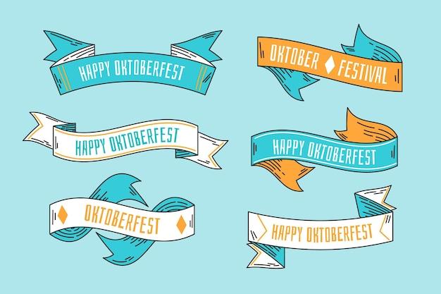 Ленты октоберфест разных цветов