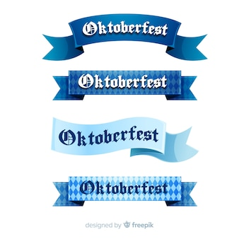 Oktoberfest ribbons set