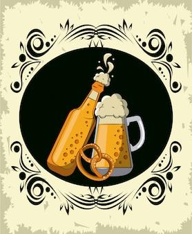 Oktoberfest round emblem