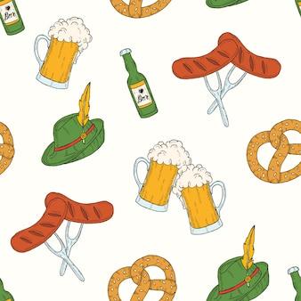 Oktoberfest seamless pattern