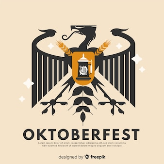 Oktoberfest shield concept background