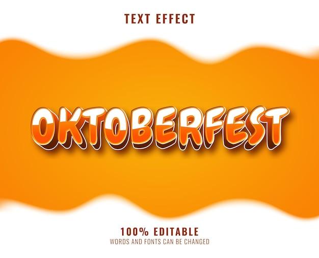 Oktoberfest text effect design with soda beer