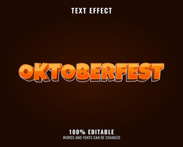 Oktoberfest text effect design